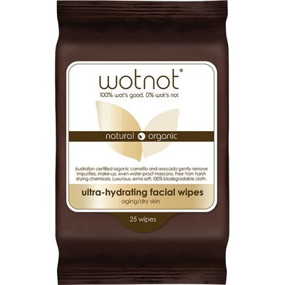 WOTNOT Facial Wipes Ultra-hydrating x 25