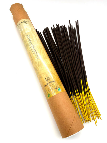 Cinnamon Sandalwood Handmade Charcoal Incense- 75+ Sticks - Enevoldsen Limited