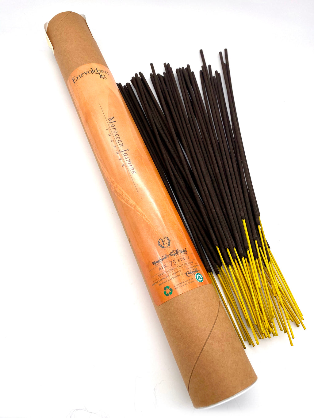 Moroccan Jasmine Handmade Charcoal Incense- 75+ Sticks - Enevoldsen Limited