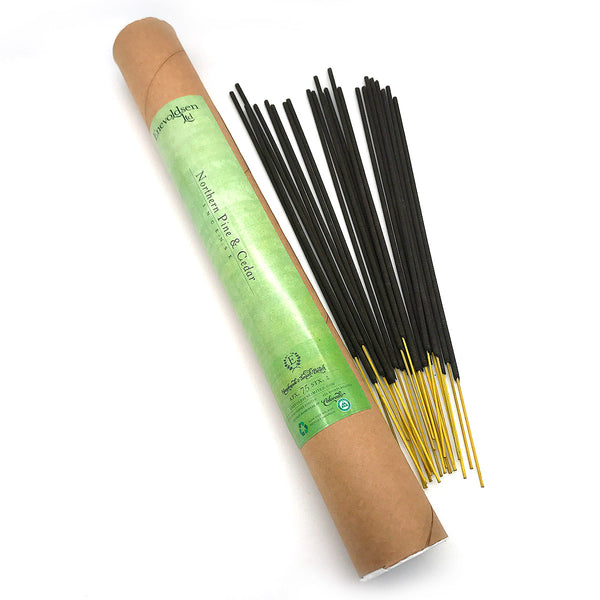Northern Pine & Cedar Handmade Charcoal Incense- 75+ Sticks - Enevoldsen Limited