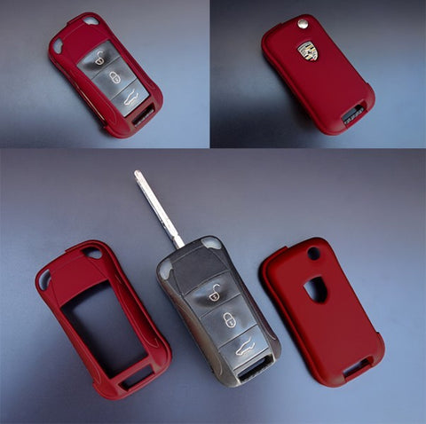 Porsche Remote Key Cover Metallic Red