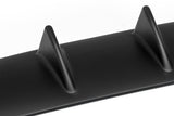 Universal Rear Bumper Lip Diffuser 7 Shark Fin Wing Black Matt