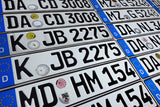 2pcs Matching Set ORIGINAL German License Plate USED