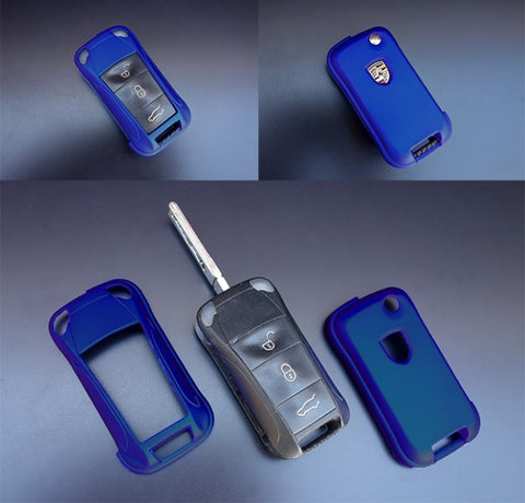 Porsche Remote Key Cover Metallic Blue