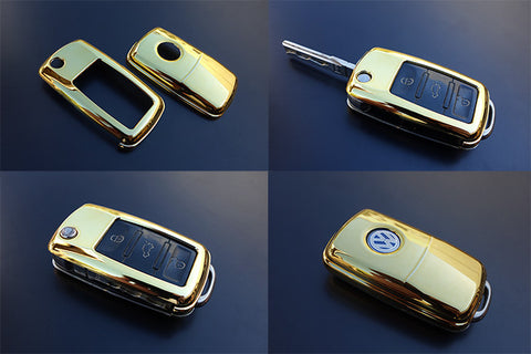 VW Remote Key Cover GOLD -10/09