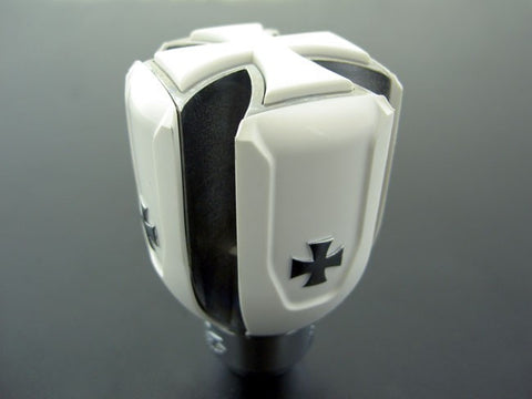 Universal White Iron Cross Shift Knob