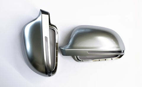 Audi A4 / S4 B8 Matt Finish Aluminum Style Mirror Caps 09-10