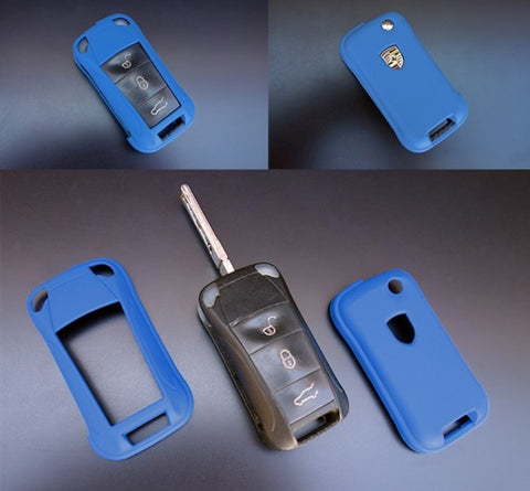 Porsche Remote Key Cover Blue