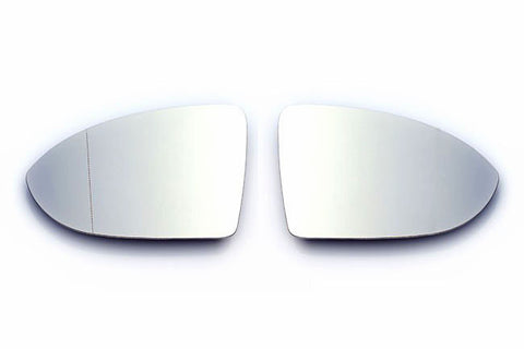 VW Golf MK7 Euro Mirror Glasses Clear Heated Aspheric / Convex