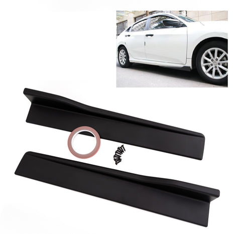 "Universal Matte Black Side Skirt Rocker Splitters Diffuser Winglet Wind 24"" x 4"""