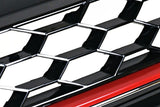 VW Golf MK7 GTI Style Mesh Grill Red Trim 15-Up