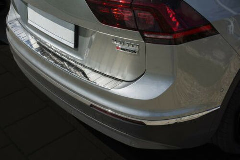 VW Tiguan MK 2 & Allspace Rear Bumper Stainless Steel Protector Cover Chrome
