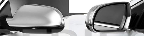 Audi A4 / S4 B8 Matt Finish Aluminum Style Mirror Caps 11-15