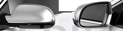 Audi A3 8P / S3 Matt Finish Aluminum Style Mirror Caps 11-16