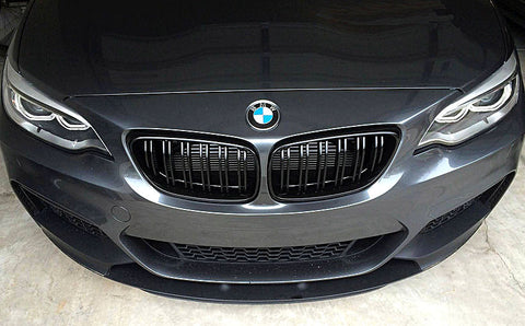 BMW F22 F23 F87 M2 Matte Black Grills 14-Up
