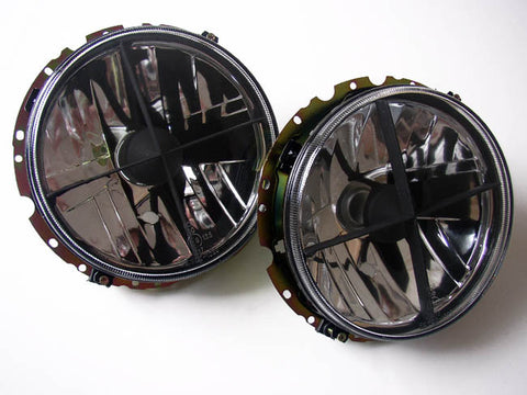 VW Rabbit MK1 / Golf Headlights Crystal Clear w/ Cross Hair