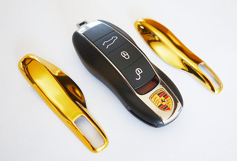 Porsche Remote Key Cover Gold