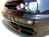 VW MK3 Black Front Bumper Turn Signals + Fog Lights