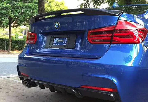 BMW F30 / F80 Sedan ABS Plastic Racing Trunk Spoiler Lip