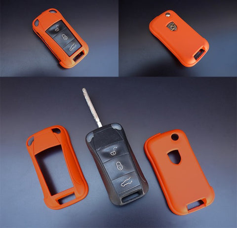 Porsche Remote Key Cover Orange