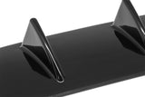 Universal Rear Bumper Lip Diffuser 5 Shark Fin Wing Gloss Black