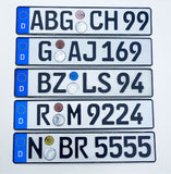 ORIGINAL German License Plate USED + NEW Holder / Frame