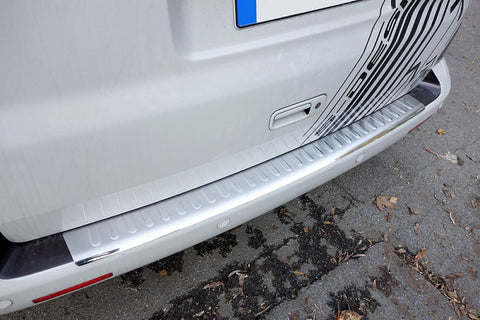 Audi Q5 / SQ5 Matte Brushed Stainless Steel Rear Bumper Protector