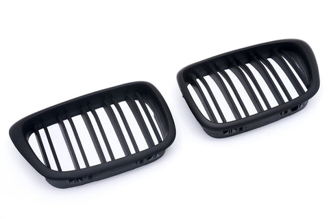 Matte Black Dual Slat Grills 96-03 For BMW E39
