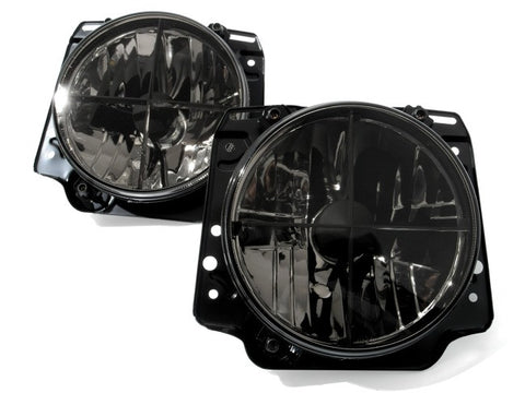 VW Golf MK2 Headlights Clear Black w/ Cross Hair