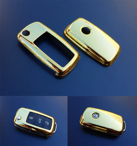 VW Remote Key Cover GOLD 11/09-