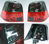 Red Black Smoke Euro Tail Lights For VW Golf MK4 99-05 GTI R