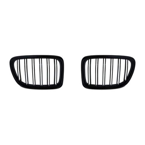 Matte Black Dual Slat Grills 10-15 For BMW X1 E84