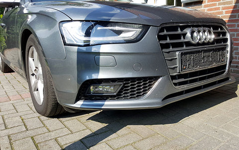 Audi A4 B8.5 Facelift Open Honeycomb Front Bumper Grills 13-Up