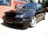 VW MK3 Black Front Bumper Turn Signals + Long Covers