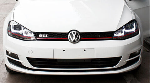 VW Golf MK7 GTI Style Mesh Grill Chrome Trim 15-Up