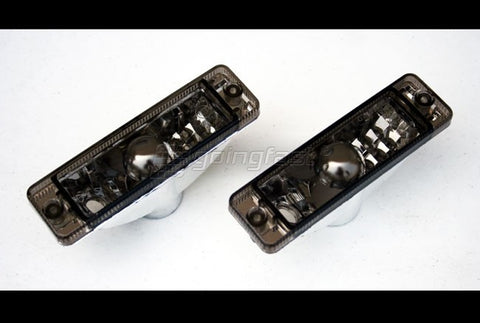 VW MK1 / MK2 Clear Black Turn Signals (Small Bumpers ONLY)