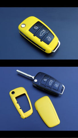 Audi Remote Key Cover Yellow