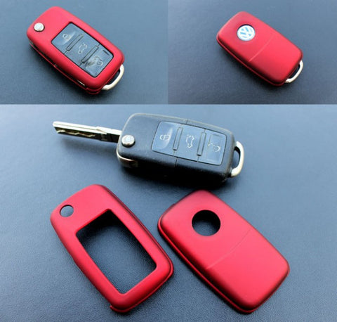 VW Remote Key Cover Metallic Red -10/09