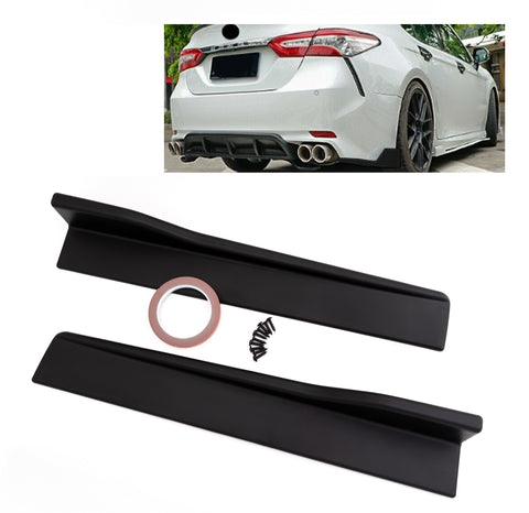 Matte Black Rear Bumper Side Skirt Lip Spoiler For Toyota Camry SE XSE 2018-2020