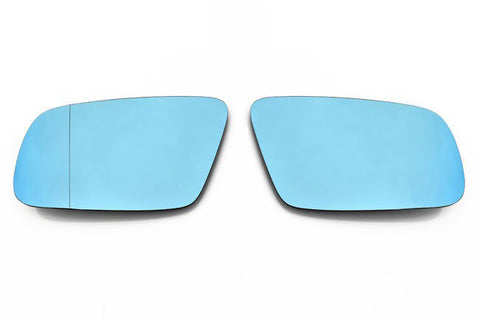 Audi Facelift Euro Mirror Glasses Blue Heated Aspheric / Convex