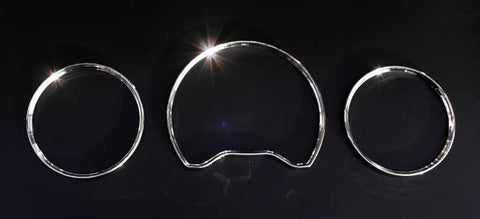 Mercedes Benz W202 / C208 / W210 Chrome Gauge Rings
