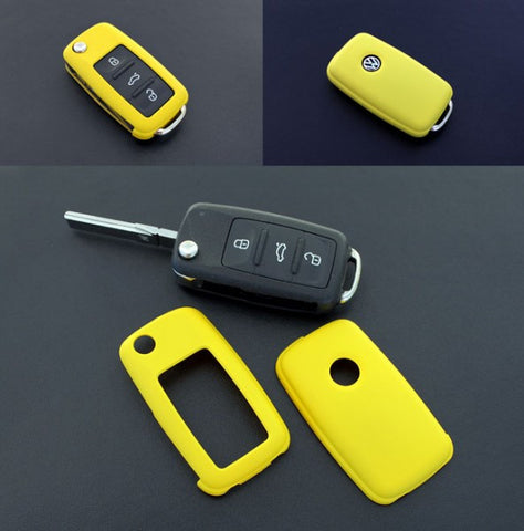 VW Remote Key Cover Yellow 11/09-