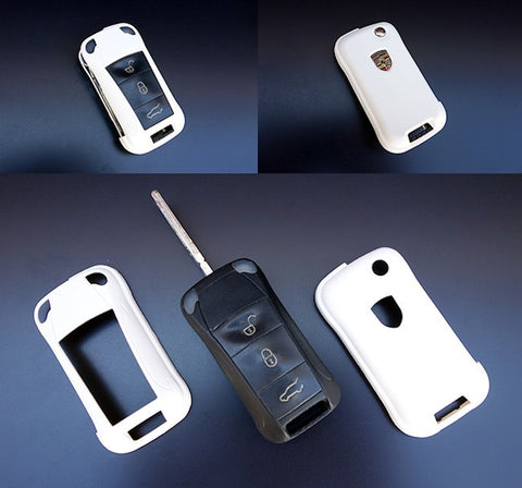 Porsche Remote Key Cover White