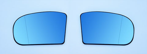 Mercedes Benz Euro Mirror Glasses Blue Heated Aspheric / Convex