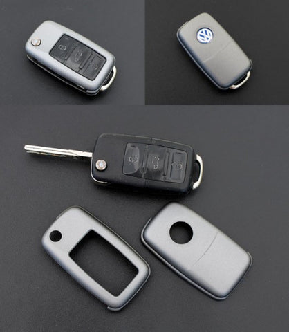 VW Remote Key Cover Metallic Grey -10/09