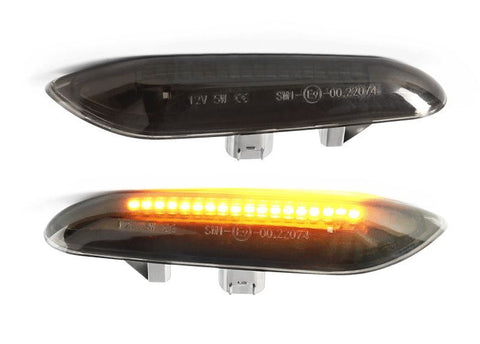 BMW Black Clear LED Fender Turn Signals