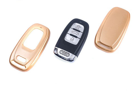 Audi Remote Key Cover Gold Paint