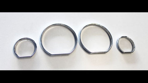BMW E46 Chrome Gauge Rings