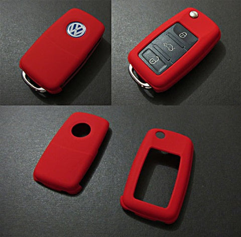 VW Remote Key Cover Red -10/09