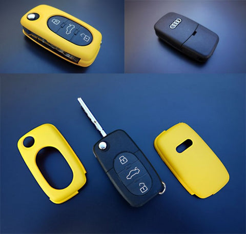 Early Audi Remote Key Cover Yellow